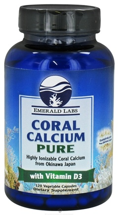 DROPPED: Emerald Labs - Coral Calcium Pure with Vitamin D3 - 120 Vegetarian Capsules