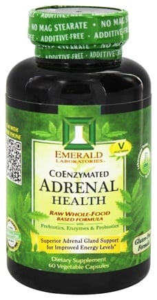 Emerald Labs - Adrenal Health Raw Whole-Food Based Formula - 60 Vegetarian Capsules