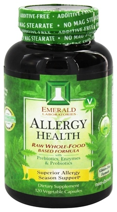 Emerald Labs - Allergy Health Raw Whole-Food Based Formula - 120 Vegetarian Capsules