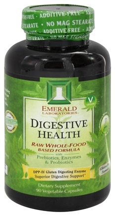 DROPPED: Emerald Labs - Digestive Health Raw Whole-Food Based Formula - 90 Vegetarian Capsules