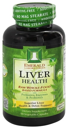 DROPPED: Emerald Labs - Liver Health Raw Whole-Food Based Formula - 90 Vegetarian Capsules