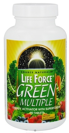 DROPPED: Source Naturals - Life Force Green Multiple - 90 Tablets