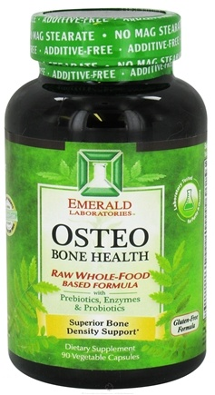 DROPPED: Emerald Labs - Osteo Bone Health Raw Whole-Food Based Formula - 90 Vegetarian Capsules CLEARANCE PRICED