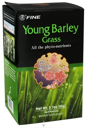 DROPPED: FINE USA Trading, Inc. - Young Barley Grass 3g X 30 Sticks - CLEARANCE PRICED