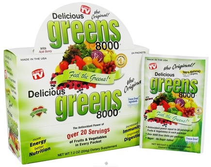 DROPPED: Greens World - Delicious Greens 8000 Original - 24 Packet(s)