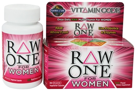 Garden of Life - Vitamin Code RAW One For Women - 30 Vegetarian Capsules