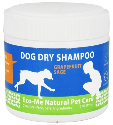 DROPPED: Eco-Me - Dog Dry Shampoo Grapefruit Sage - 16 oz. CLEARANCE PRICED