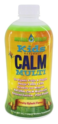 Natural Vitality - Natural Calm Kids Multi Vitamin Fruity Splash - 30 oz. formerly Peter Gillham's