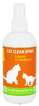 DROPPED: Eco-Me - Cat Clean Spray Lemon Citronella - 8 oz. CLEARANCE PRICED
