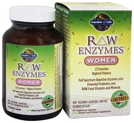 Buy Garden of Life - RAW Enzymes Women - 90 Vegetarian Capsules at ...
