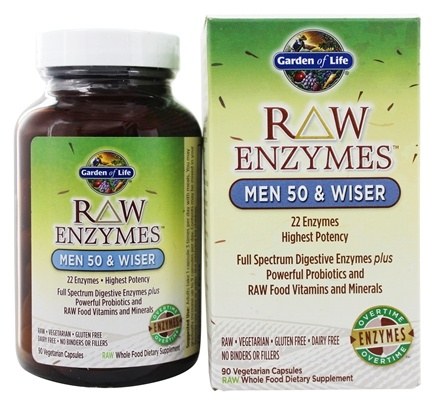 Garden of Life - RAW Enzymes Men 50 & Wiser - 90 Vegetarian Capsules