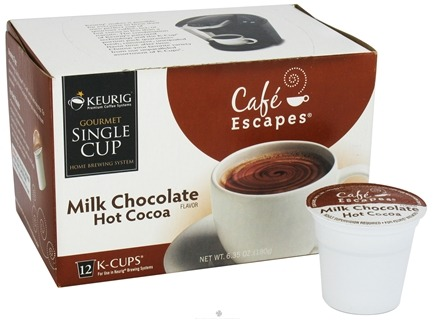 Zoom View - Cafe Escapes Milk Chocolate Hot Cocoa 12 K-Cups