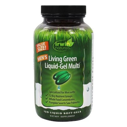 Irwin Naturals - Living Green Liquid-Gel Multi For Men - 120 Softgels
