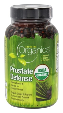 DROPPED: Irwin Naturals - Organics Daily Prostate Defense - 60 Tablets