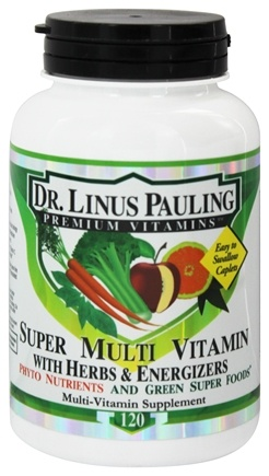 Dr. Linus Pauling - Super Multi Vitamin With Herbs & Energizers Phyto Nutrients & Green Superfoods - 120 Caplets