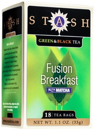 DROPPED: Stash Tea - Premium Fusion Breakfast Green & Black Tea with Matcha - 18 Tea Bags