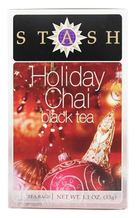 DROPPED: Stash Tea - Premium Holiday Chai Black Tea - 18 Tea Bags