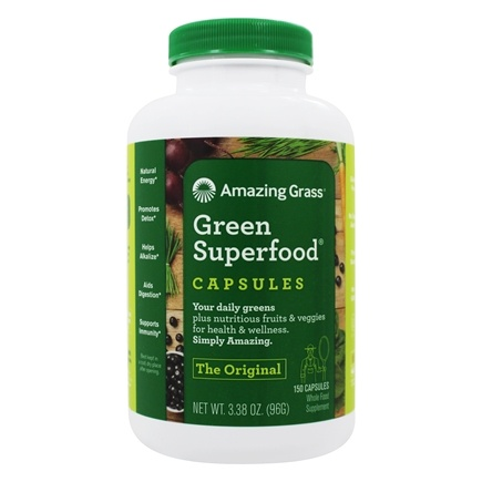 Amazing Grass - Green SuperFood 650 mg. - 150 Vegetarian Capsules
