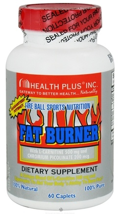DROPPED: Health Plus - Fat Burner with L-Carnitine - 60 Caplets