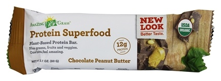 Amazing Grass - Protein Superfood Plant-Based Protein Bar Chocolate Peanut Butter - 2.2 oz.