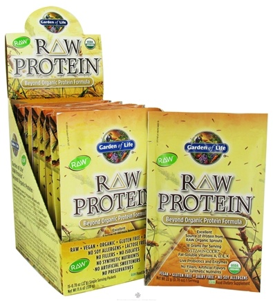 DROPPED: Garden of Life - RAW Protein Beyond Organic Protein Formula - 15 Packet(s) CLEARANCE PRICED