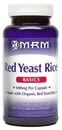 DROPPED: MRM - Red Yeast Rice 600 mg. - 60 Vegetarian Capsules