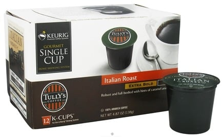 DROPPED: Keurig - Tully's Coffee Italian Roast 12 K-Cups - 4.87 oz. CLEARANCE PRICED