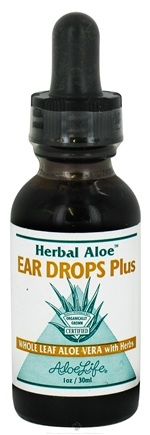 DROPPED: Aloe Life - Herbal Aloe Ear Drops Plus - 1 oz. CLEARANCE PRICED