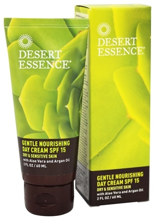 Desert Essence - Gentle Nourishing Day Cream For Dry & Sensitive Skin Fragrance-Free 15 SPF - 2 oz.