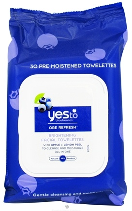 DROPPED: Yes To - Blueberries Towelettes Brightening Facial Age Refresh - 30 Wipe(s)