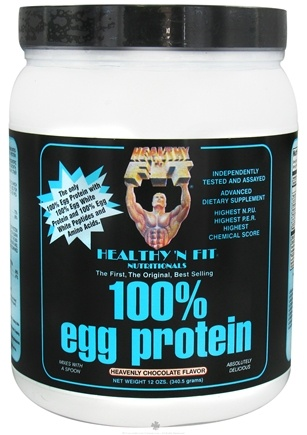 DROPPED: Healthy N' Fit - 100% Egg Protein Heavenly Chocolate - 12 oz. CLEARANCE PRICED