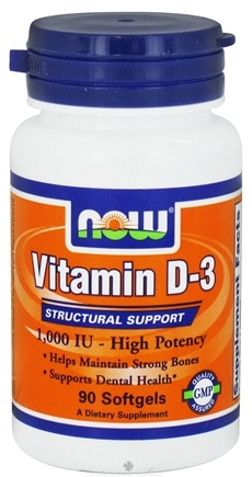 DROPPED: NOW Foods - Vitamin D3 High Potency 1000 IU - 90 Softgels