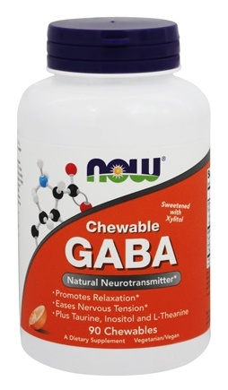 NOW Foods - GABA with Xylitol Orange Flavor - 90 Chewable Tablets