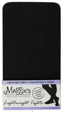 DROPPED: Maggie's Organics - Tights Lightweight Large Charcoal Grey - 1 Pair CLEARANCE PRICED