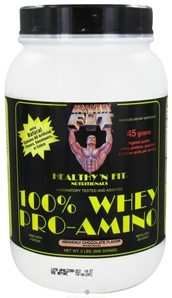 DROPPED: Healthy N' Fit - 100% Whey Pro-Amino Heavenly Chocolate - 2 lbs. CLEARANCE PRICED