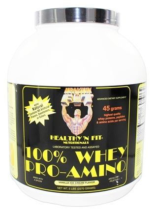 Healthy N' Fit - 100% Whey Pro-Amino Vanilla Ice Cream - 5 lbs.
