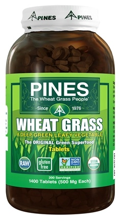 Pines - Wheat Grass Tablets 500 mg. - 1400 Tablets