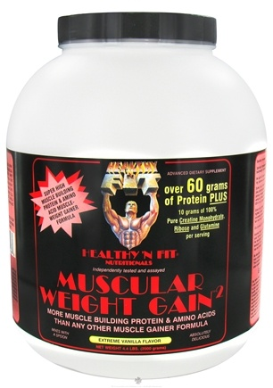 DROPPED: Healthy N' Fit - Muscular Weight Gain 2 Extreme Vanilla - 4.4 lbs. CLEARANCE PRICED