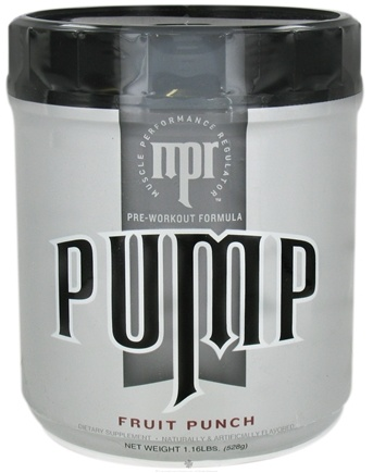 DROPPED: MPR - Pump Pre-Workout Formula Fruit Punch - 1.16 lbs. CLEARANCE PRICED
