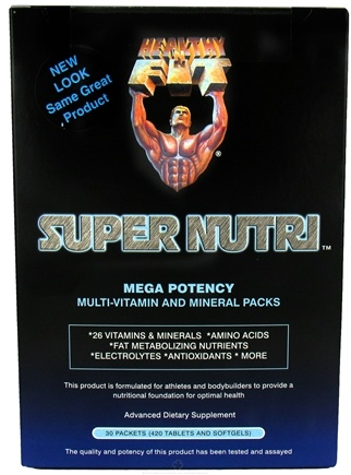 Zoom View - Super Nutri Pack Mega Potency Multi-Vitamin and Mineral