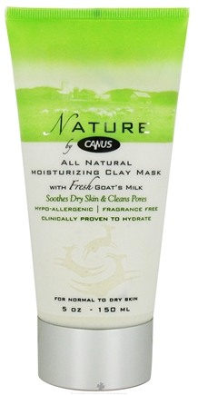 DROPPED: Canus - Nature All Natural Moisturizing Clay Mask with Fresh Goat's Milk Fragrance Free - 5 oz. CLEARANCE PRICED