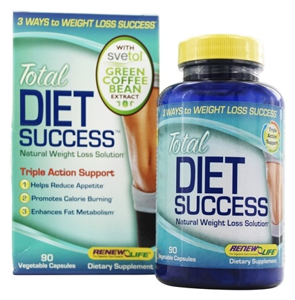 DROPPED: Renew Life - Total Diet Success Natural Weight Loss Formula with Svetol® - 90 Vegetarian Capsules