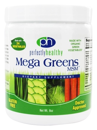 Perfectly Healthy - Mega Greens Plus MSM - 8 oz.