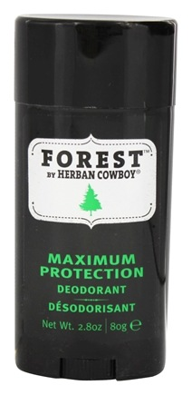 Herban Cowboy - Natural Grooming Deodorant Stick Maximum Protection Forest - 2.8 oz.