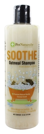 DROPPED: Pet Naturals of Vermont - Soothe Oatmeal Shampoo For Dogs & Cats Coconut Scent - 16 oz.