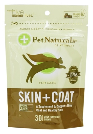 DROPPED: Pet Naturals of Vermont - Skin + Coat Duck Flavored - 30 Chews