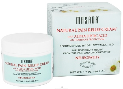 DROPPED: Masada - Natural Pain Relief Cream with Alpha Lipoic Acid Antioxidant Protection - 1.7 oz. CLEARANCE PRICED