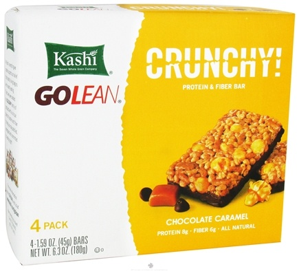 DROPPED: Kashi - GoLean Crunchy Protein & Fiber Bars Chocolate Caramel - 4 Bars