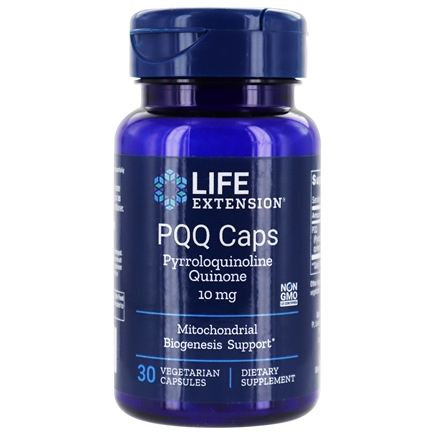 Life Extension - PQQ Caps with BioPQQ 10 mg. - 30 Vegetarian Capsules