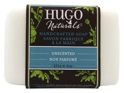 Hugo Naturals - Handcrafted Bar Soap Unscented - 4 oz.
